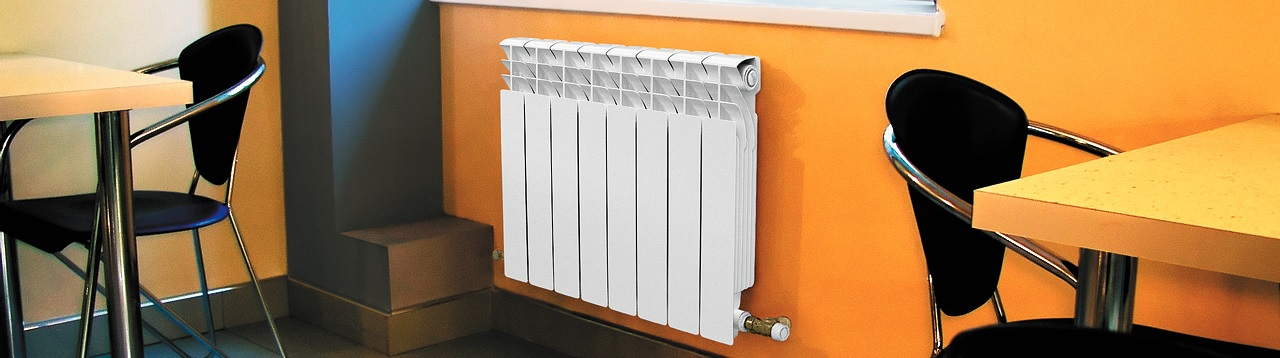 Установка батареи отопления