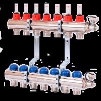 Установка распределительного коллектора отопления и водоснабжения