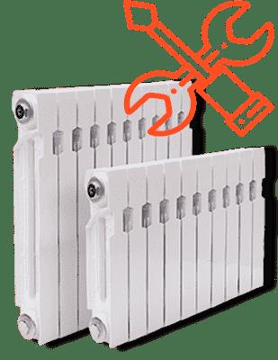 Установка батареи отопления цена